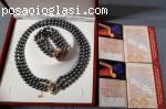 Åpanski crni BISERI Maiorka - ogrlica i narukvica